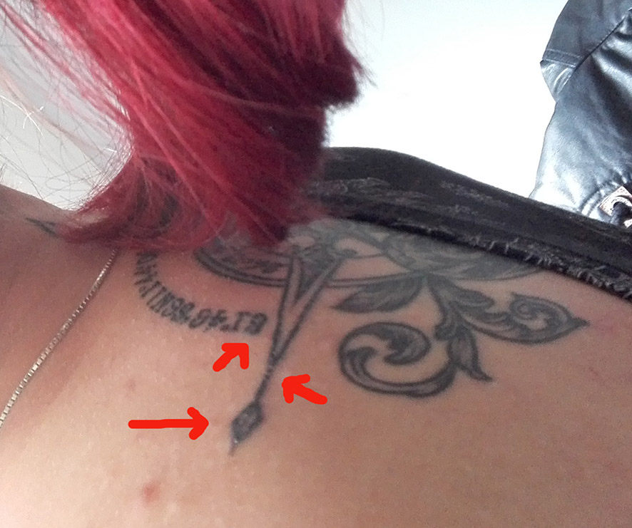 Einzelne Linien erhaben und jucken : Tattoopflege